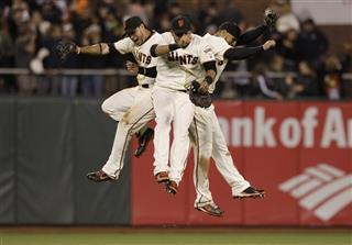 Gregor Blanco, Melky Cabrera, Justin Christian