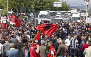 Albania Opposition Protest