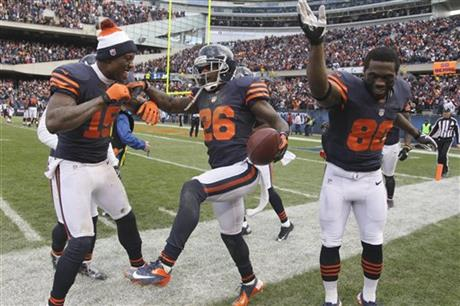 Tim Jennings, Brandon Marshall, Earl Bennett