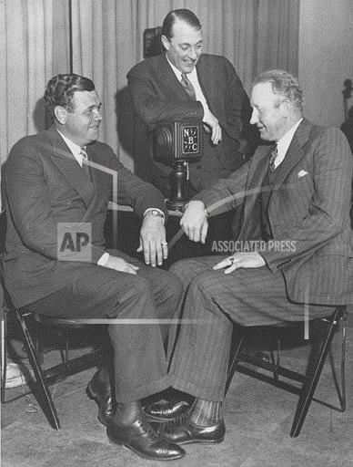 Associated Press Domestic News New York United States BABE RUTH DAZZY VANCE ON AIR