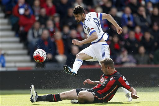 Hazard scores 2, Fabregas leads Chelsea over Bournemouth 4-1