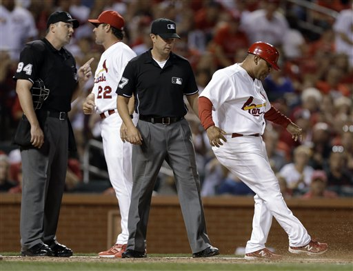 Jose Oquendo, Mike Matheny, Lance Barrett, Jim Reynolds