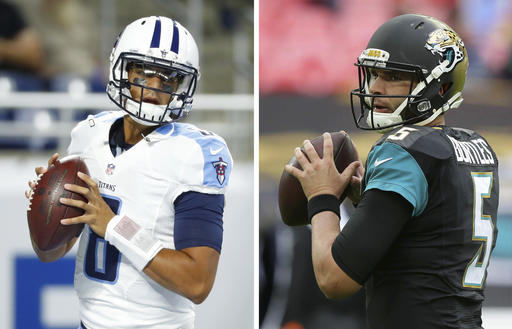 Jaguars, Titans looking for AFC South win in lone night game