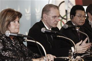 Jacques Rogge, Gunilla Lindberg, Kim Jin-sun