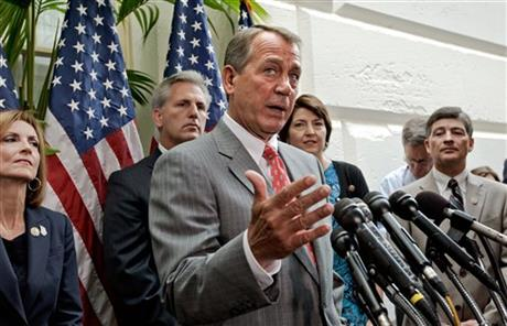 John Boehner, Kevin McCarthy, Jeb Hensarling, Nan Hayworth, Cathy McMorris Rodgers