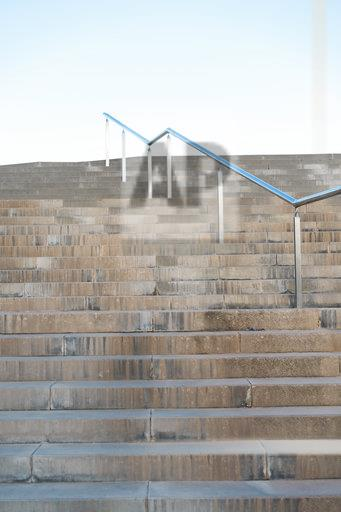 Spain, Barcelona, Empty stairs with railing