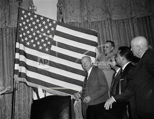 Watchf Associated Press Domestic News  Dist. of Col United States APHS153083 President Dwight  Eisenhower                          1959