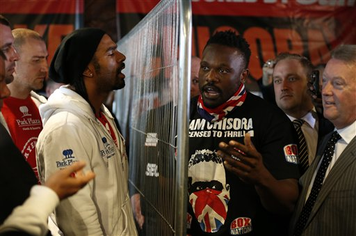 Britain Boxing Chisora Haye