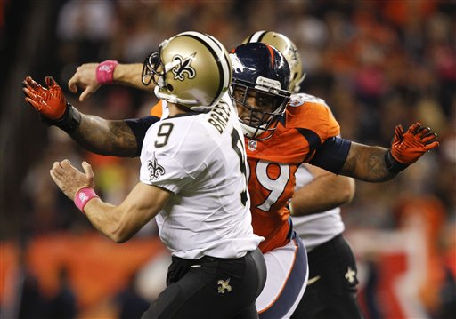 Drew Brees, Kevin Vickerson