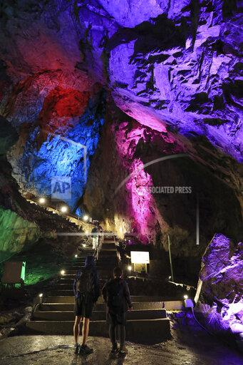 Nippara Limestone cave lit up to cool down