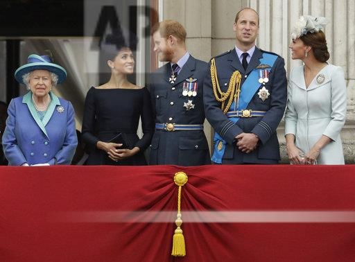 APTOPIX Britain Royals RAF 100 Years