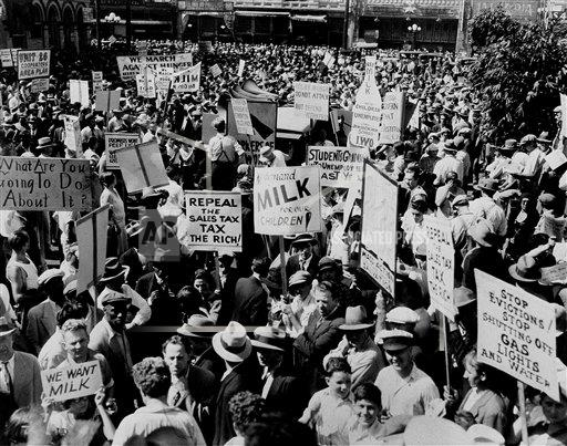 Watchf AP A  CA USA APHS126536 The Great Depression Hunger March