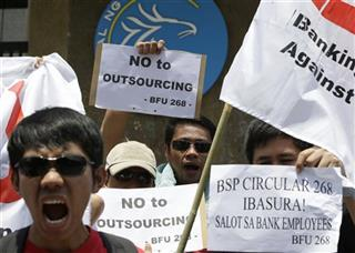 Philippines Bank Outsourcing Protest