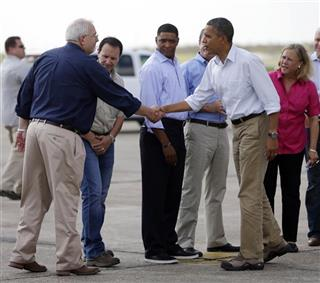 Barack Obama, Mary Landrieu, David Vitter,Cedric Richmond   Craig Fugate, Jeff Landry