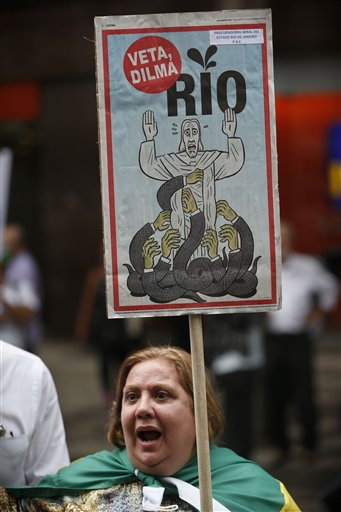 Brazil Oil Revenues Protest