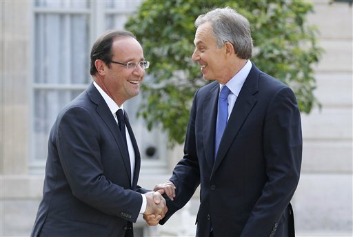 Tony Blair et François Hollande !