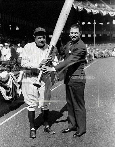 Associated Press Sports New York United States Professional baseball (American League) DEMPSEY RUTH BIG BAT