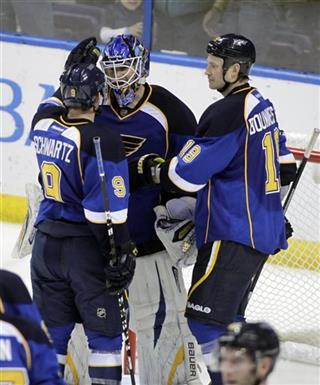 Brian Elliott, Jaden Schwartz, Jay Bouwmeester