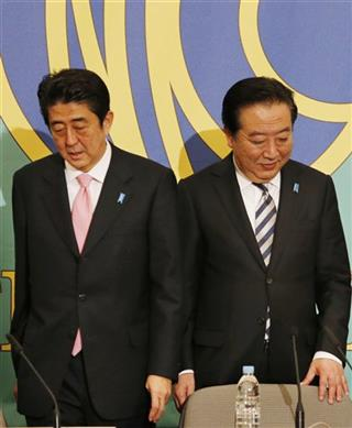 Yoshihiko Noda,Shinzo Abe