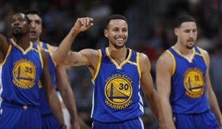 Klay Thompson, Kevin Durant, Stephen Curry