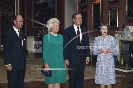 Watchf Associated Press International News   England APHS159476 George and Barbara Bush