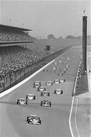 Indy 500 1975 Countdown race 59 Auto Racing