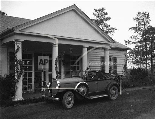 Watchf Associated Press Domestic News  Georgia United States APHS128403 FDR Driving 1933