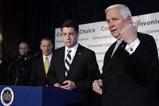 Tom Corbett, Jim Cawley,