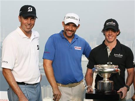Matt Kucher, Padraig Harrington, Rory McIlroy