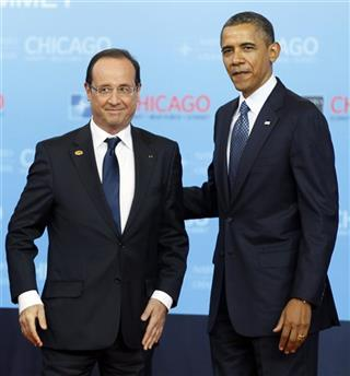 Anders Fogh Rasmussen, Barack Obama, Francois Hollande