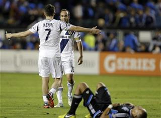 Landon Donovan, Robbie Keane, Jason Hernandez