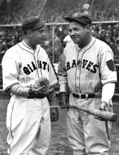 Associated Press Sports New York United States Professional baseball (National League) GIANTS TERRY BRAVES RUTH