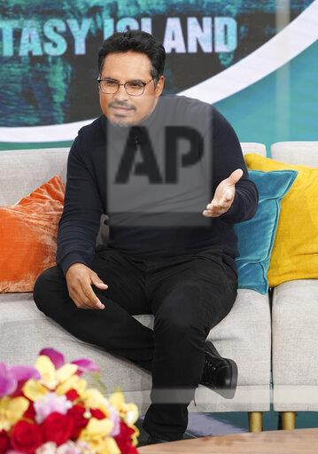 FL: Actor Michael Pena visits Despierta America morning show to promote his up coming movie Fantasy Island.