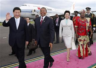 Xi Jinping, Peng Liyuan, Jakaya Mrisho Kikwete, Salma Kikwete