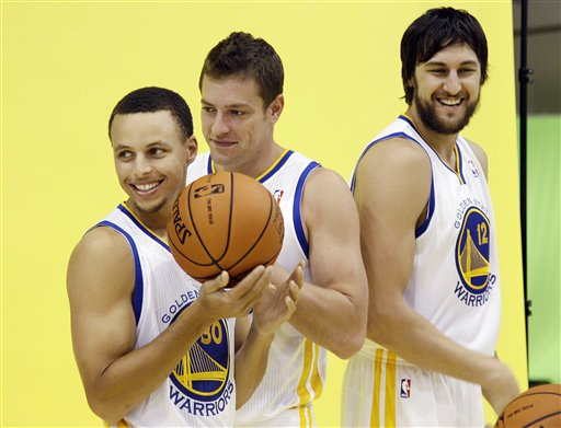 Stephen Curry, David Lee, Andrew Bogut