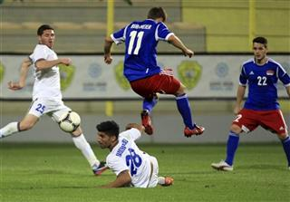 Mideast Emirates Liechtenstein Azerbaijan Soccer