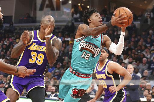 Lakers Grizzlies Basketball