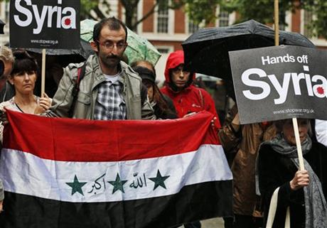 Britain US Syria