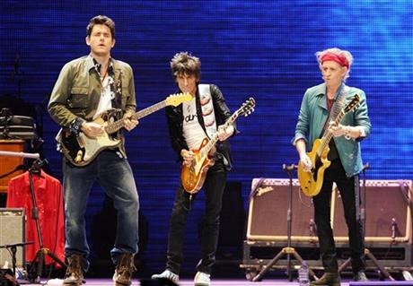 John Mayer, Ronnie Wood, Keith Richards