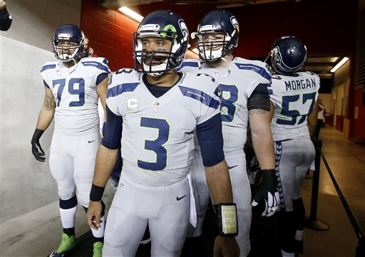 Russell Wilson, Justin Britt, Garry Gilliam