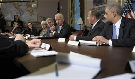 Joe Biden, Eric Holder, Michael Gallagher, Kathleen Sebelius, John Riccitiello