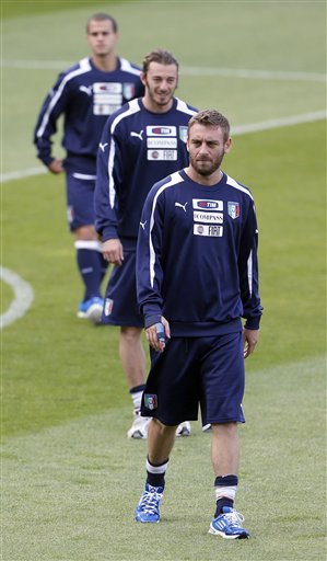Soccer Euro 2012 Training Italy