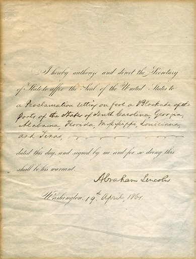 Lincoln War Document