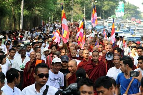 Myanmar Monks Protest