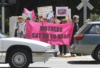 Mothers Protest Against NRA