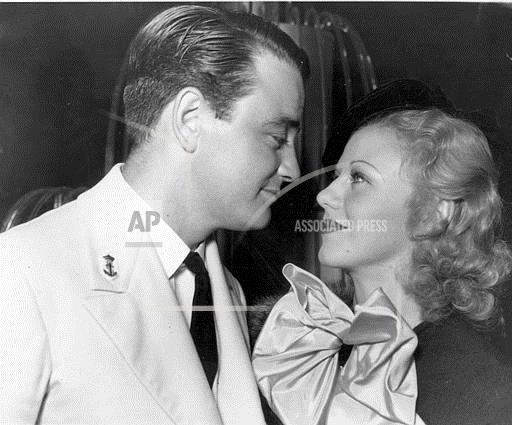 Associated Press Domestic News California United States Entertainment LEW AYRES GINGER ROGERS