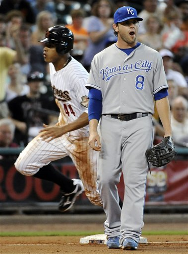 Mike Moustakas, Justin Maxwell