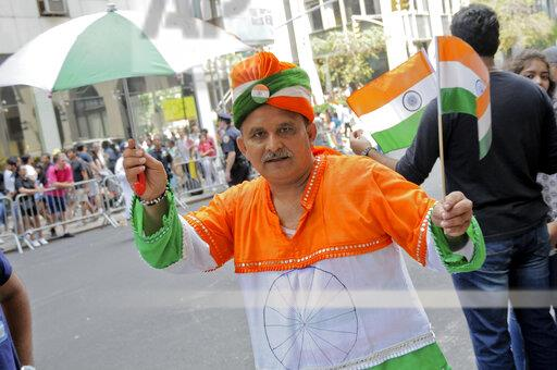Indian Day Parade in New York, US - 18 Aug 2019