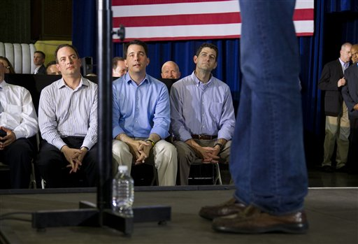 Mitt Romney, Reince Priebus, Scott Walker, Paul Ryan