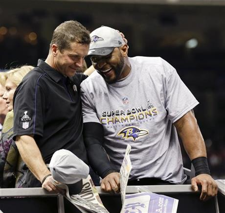 Ray Lewis, John Harbaugh